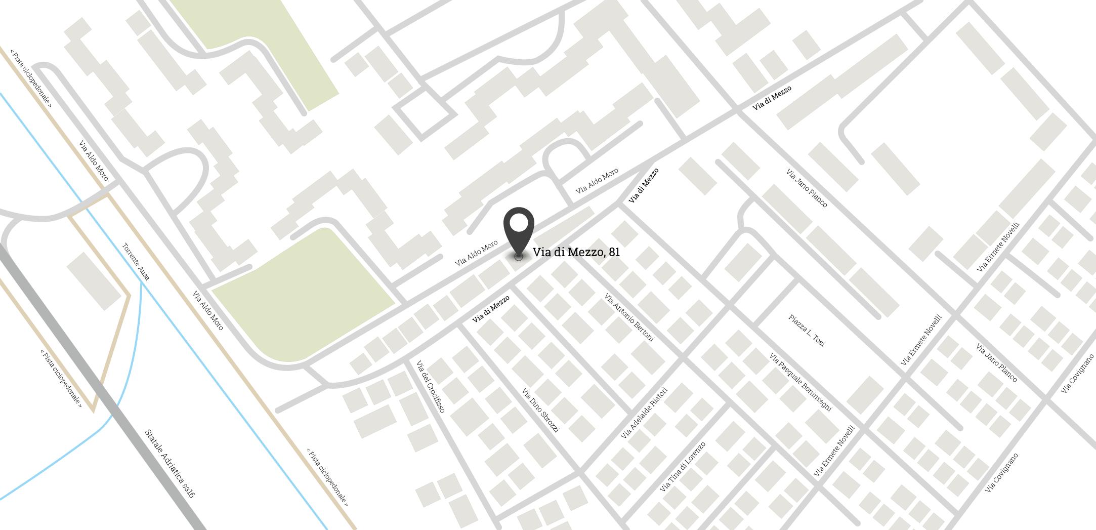 Mappa Via Di Mezzo